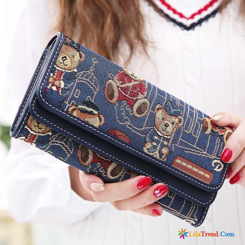 d9888928adae39 Billige Portemonnaie Damen Das Lila Brieftasche Langer Abschnitt Geldbörse  Schüler Bär Sale