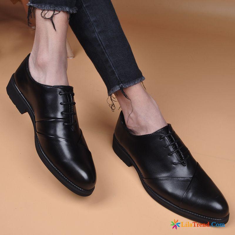 9df31468d32f59 Italienische Schuhe Online Schwarz Formeller Anzug Atmungsaktiv Lederschuhe Geschäft  Kaufen