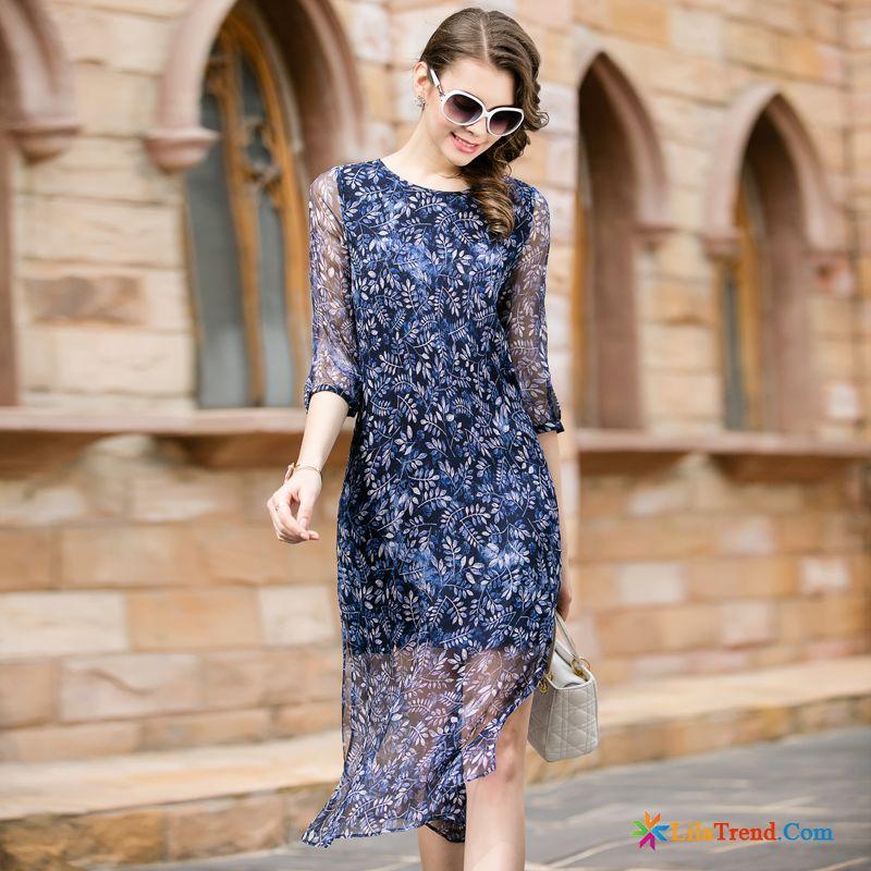 Romantische Kleider Damen Mode Blumen Zweiteiliges Kleider Günstig