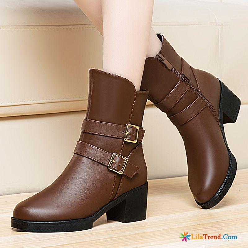 8d98effb707727 Schuhversand Online Kurze Stiefel Schuhe Plus Samt Hochhackigen Winter  Billig