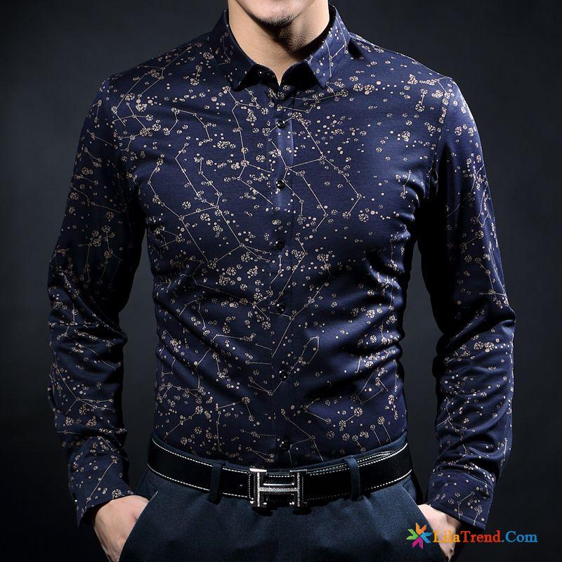 meet 8d927 d2b12 Slim Fit Herren Hemd Mode Neue Produkte Feder Seide Hemd Kaufen