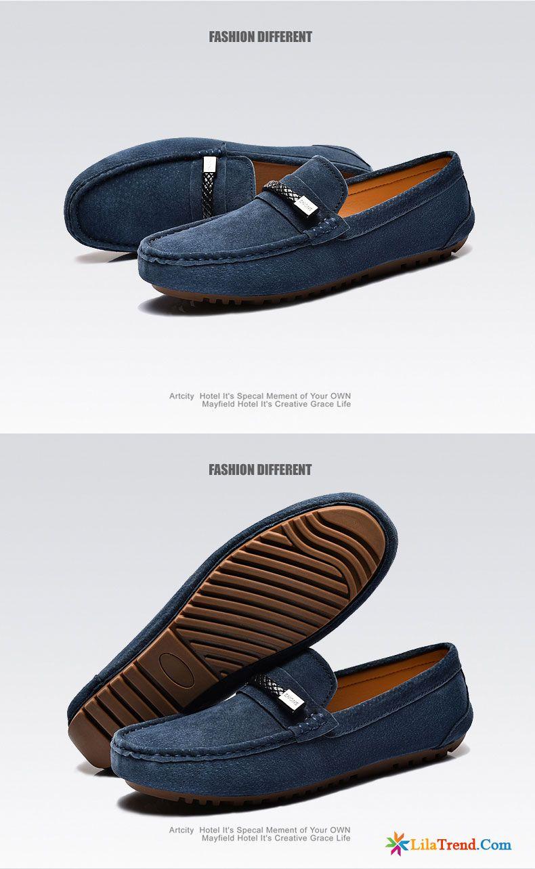 Business Halbschuhe Herren Dunkelrot Fahrt Mode Schuhe
