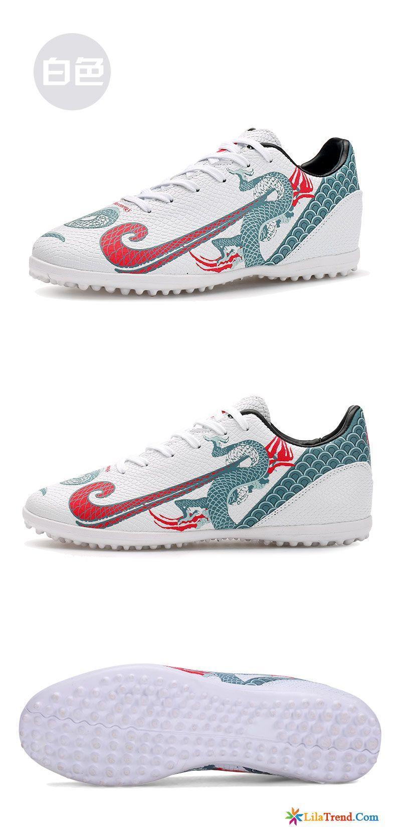 Herren Schuhe Weiß Fußballschuhe Drinnen Zerbrochene Nägel
