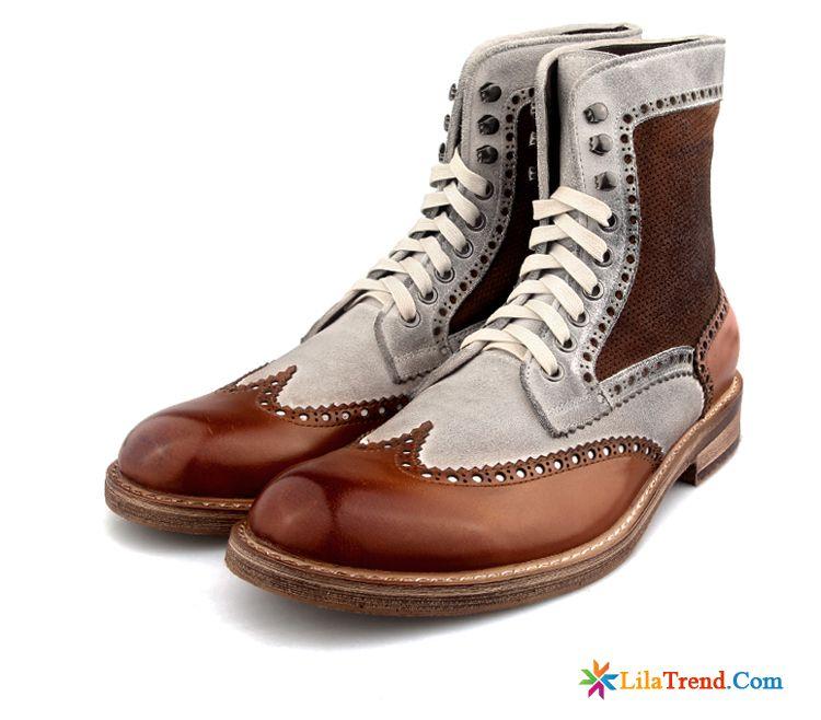 Hochzeitsschuhe Herren Schwarz Trend Stiefel Schuhe Retro Martin
