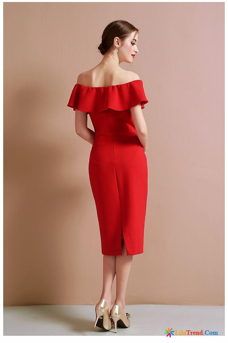 Kleid Beige Schlank Kleid Sommer Kleider Rote Verkaufen