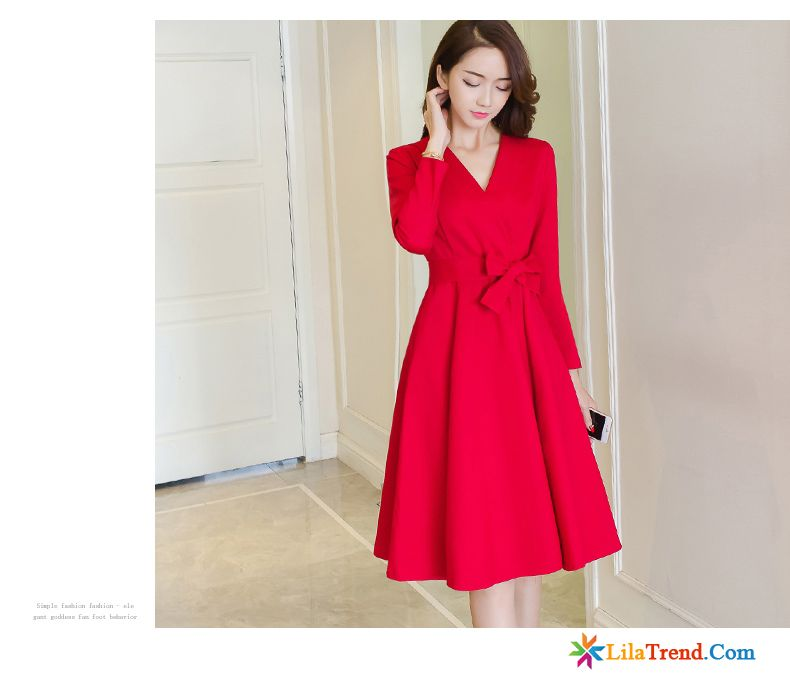 Rote kleider lang damen