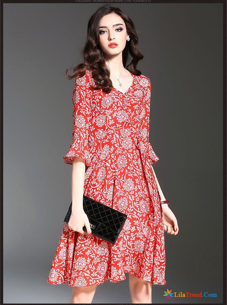 Kleider Damen Winter Alinie Rock Lange Damen Kleider Rote Kaufen