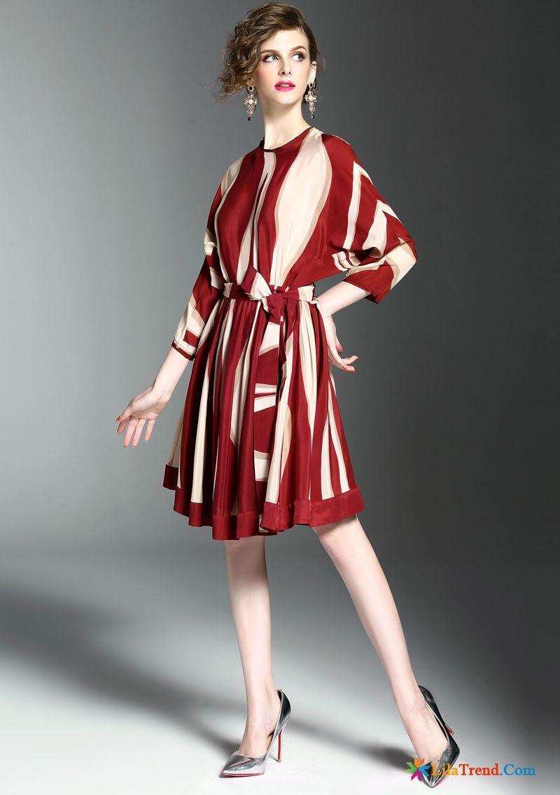 cdd5ab02a85f Kleider Kaufen Online Kleider Seide Feder Streifen Damen Günstig