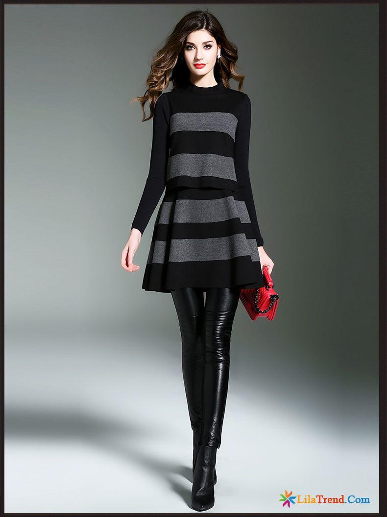 Kleider Kaufen Online Shop A-linie Rock Damen Strickkleid ...