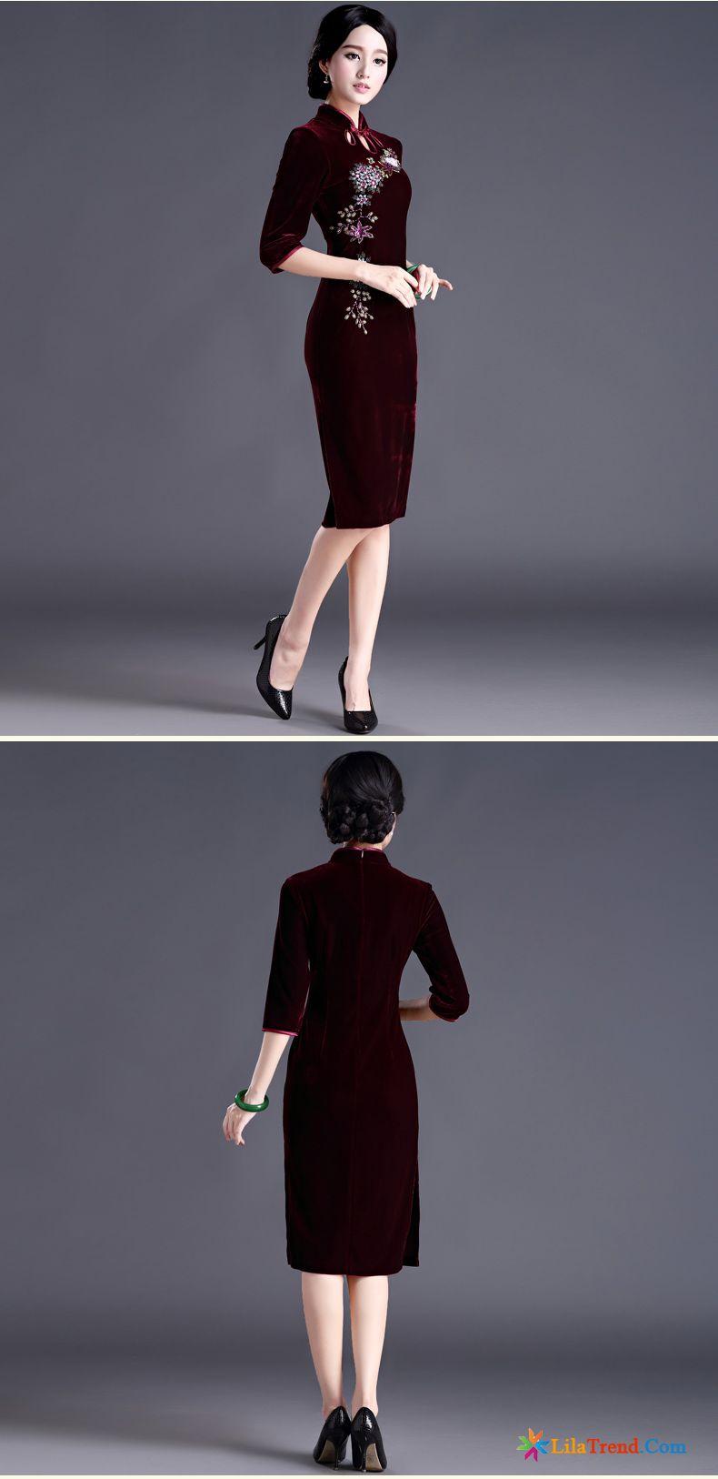 Onlineshop Kleidung Damen Mode Hochzeit Hülse Cheongsam Kleid Günstig
