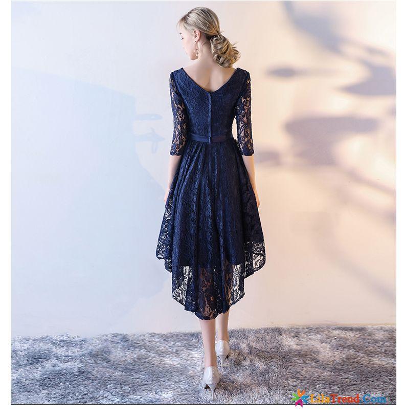 Pinkes Kleid Damen Lange Lange Ärmel Bankett Kleid Kleider ...