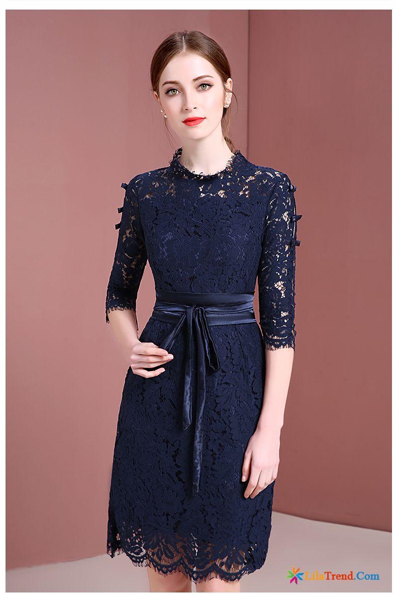 uk availability e7058 850d1 Schöne Kleider Kurz Kleid Elegant Kleider Stehkragen Damen ...