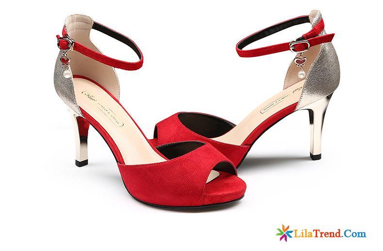 buy popular 6dcd8 128b1 Silberne Flache Sandalen Dünne Fersen Hochzeit Schuhe ...