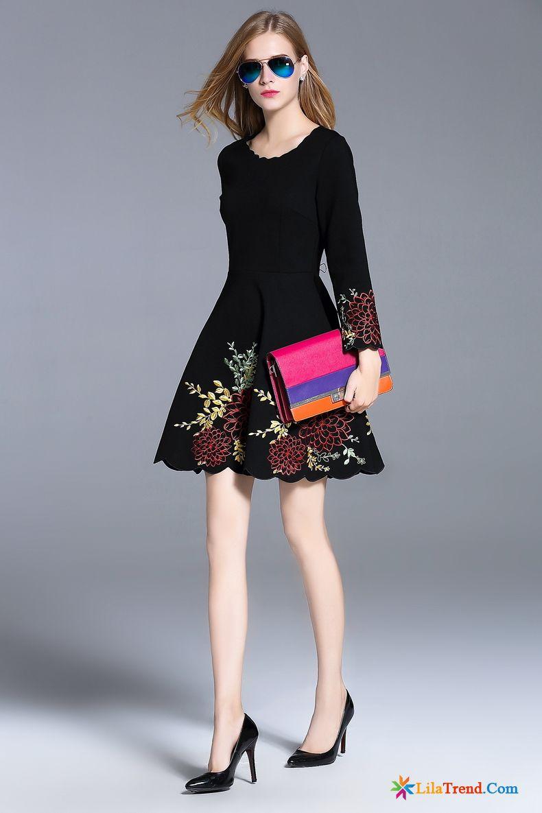 Weißes Langes Kleid Rosa Rote Mode Temperament Neu Kleider Kaufen