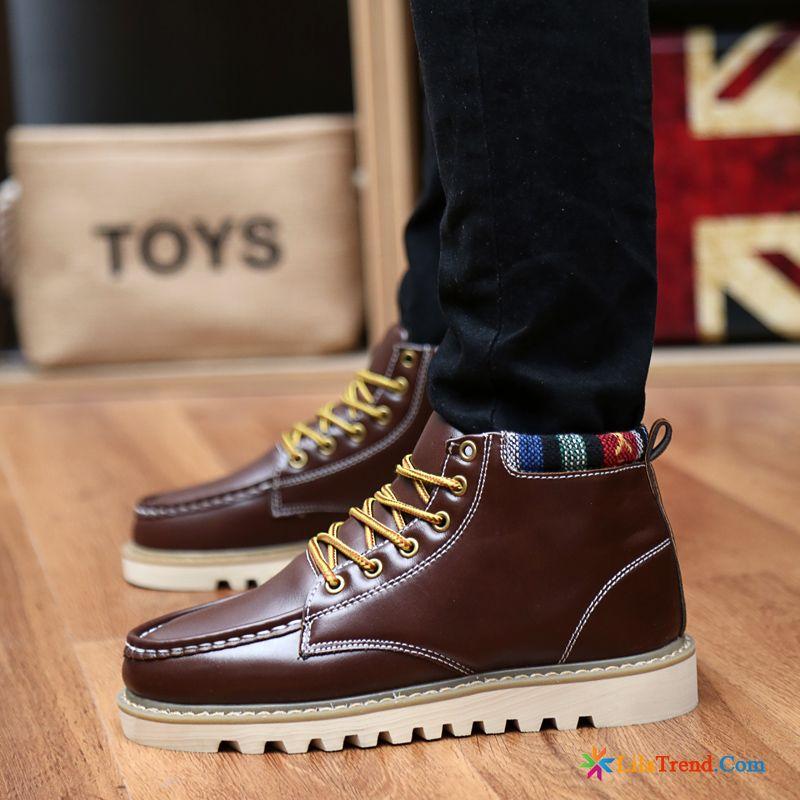 e270b5de517e73 Black Boots Herren Stiefel British Martin Stiehlt Herbst Schuhe Billig