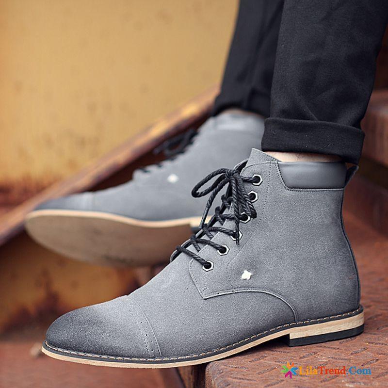save off fb215 3c4ec Boots Herren Leder Retro Kurze Stiefel Gefrostet Sommer Schuhe
