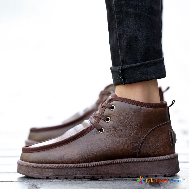 f6c50e1641c35 Braune Lederstiefel Herren Schuhe Winter Cargo Wasserdicht Stiefel Sale