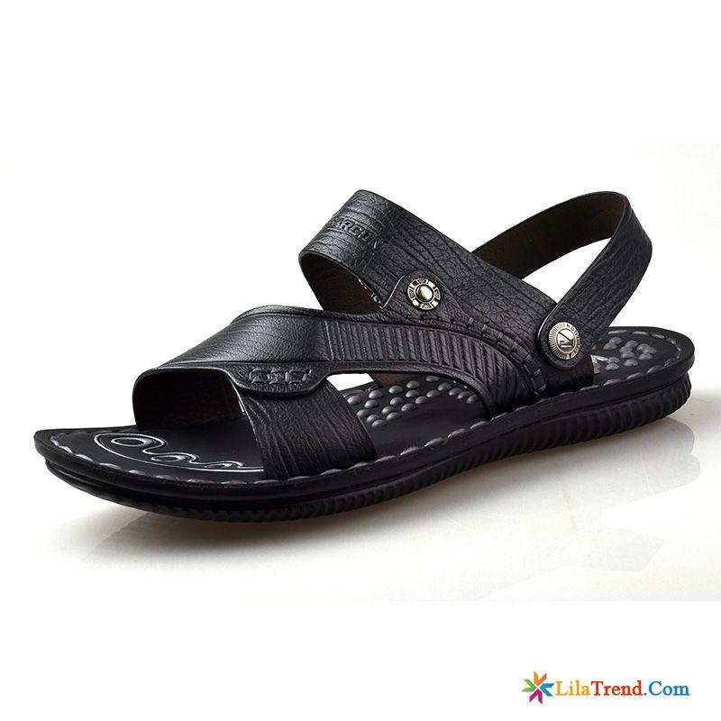 20562ba9c1f7 Herren Schlappen Leder Casual Sandalen Schuhe Sommer Strand Verkaufen