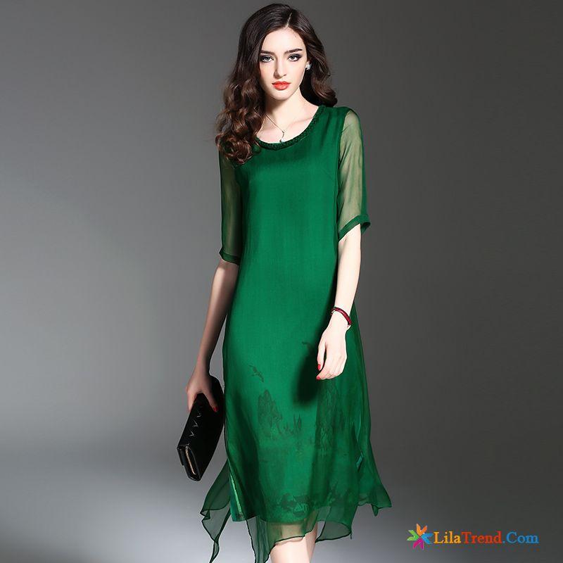 2da2838b8e Kleider Kaufen Online Shop Braun Kleider Lange Seide Trend Große Größe