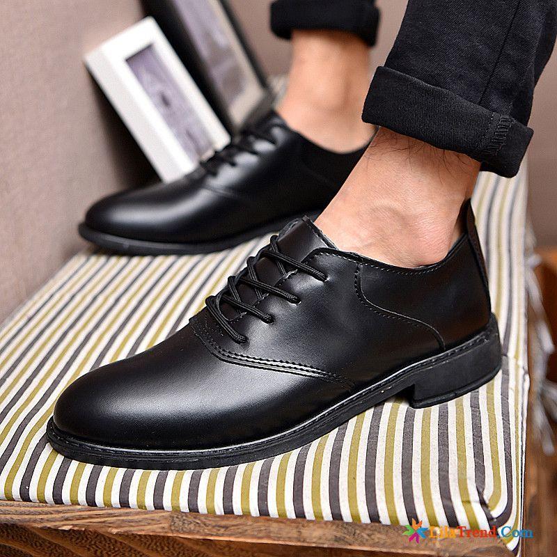 c0ac509c3ac327 Leder Schuhe Schwarz Formeller Anzug Trend Allgleiches Geschäft Jugend  Günstig
