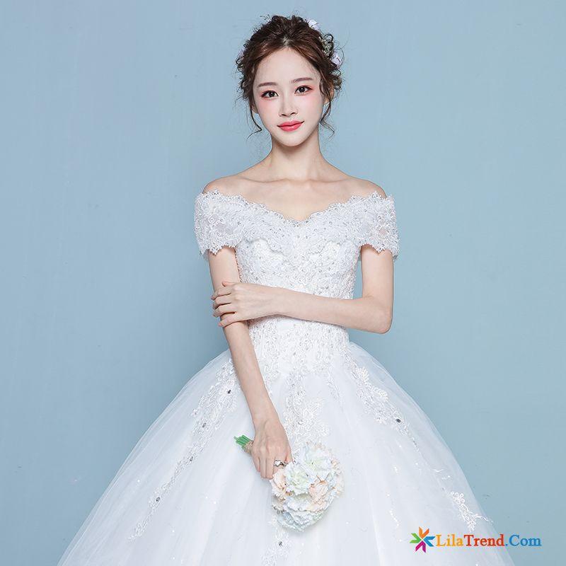 Mode Kleider Festlich Große Größe Kleid Feder Braut Brautkleid