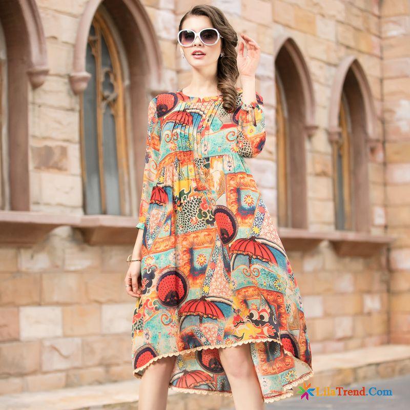 san francisco 5774c 55981 Online Shopping Kleidung Trend Seide Langer Rock Kleider ...