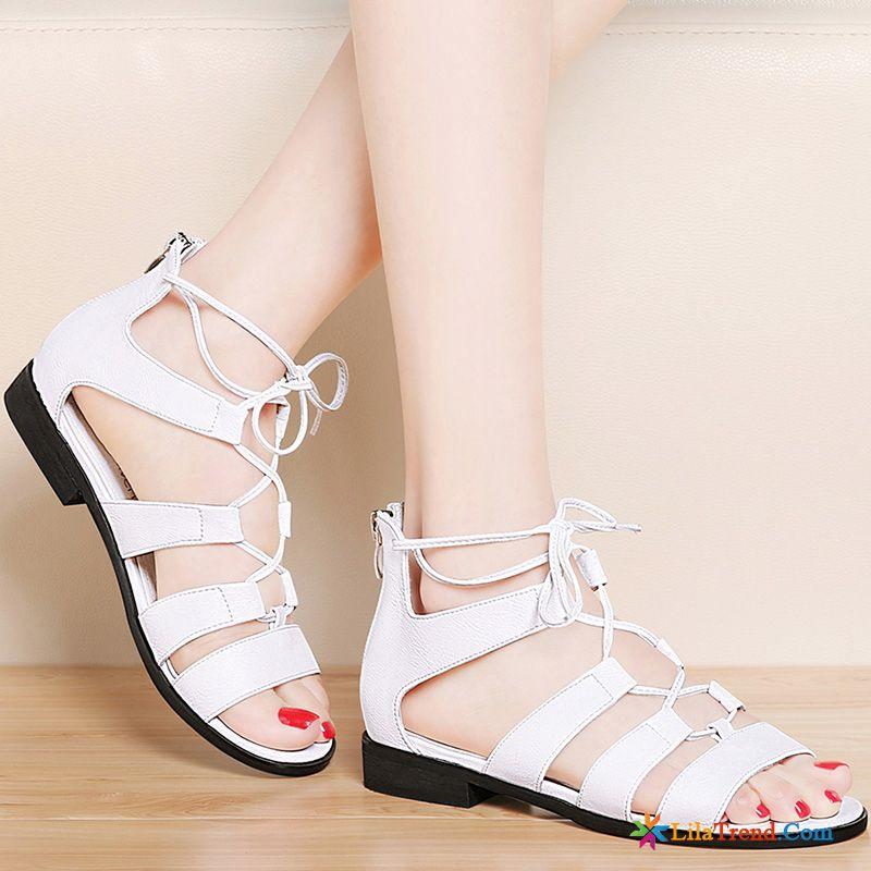 best sneakers 180bd afe7f Rosa Sandalen Mit Absatz Neue Trend Rom Allgleiches Flache ...