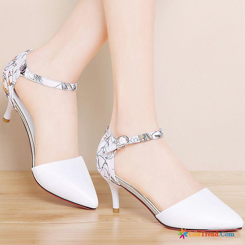 Sandalen Damen Leder Flach Grau Allgleiches Trend Schuhe Neue Sommer