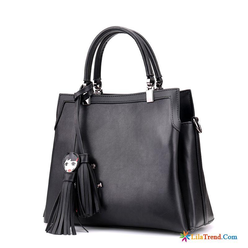 acac78fa1f09f Schwarze Handtasche Damen Dunkel Quaste Messenger-tasche Taschen Sommer  Frühling Günstig