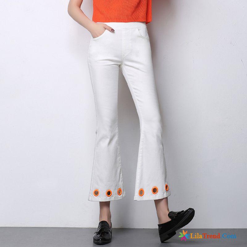 39581f9551dd87 Weiße Hosen Für Damen Damen Sommer Hohe Taille Feder Schwarz Günstig