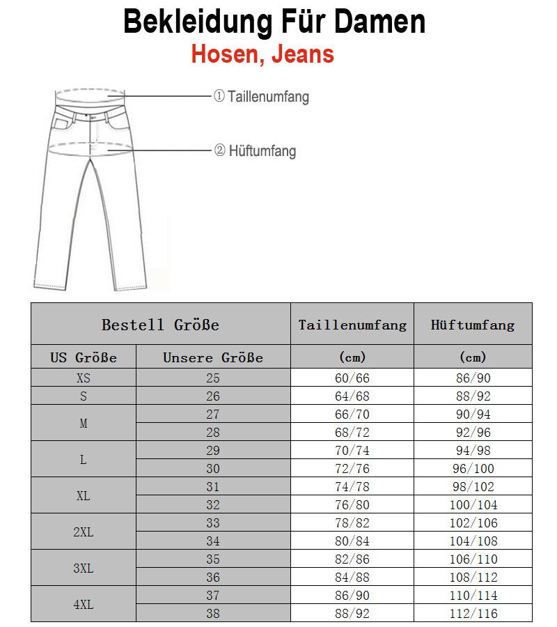 Lilatrend Damen Jeans Größe